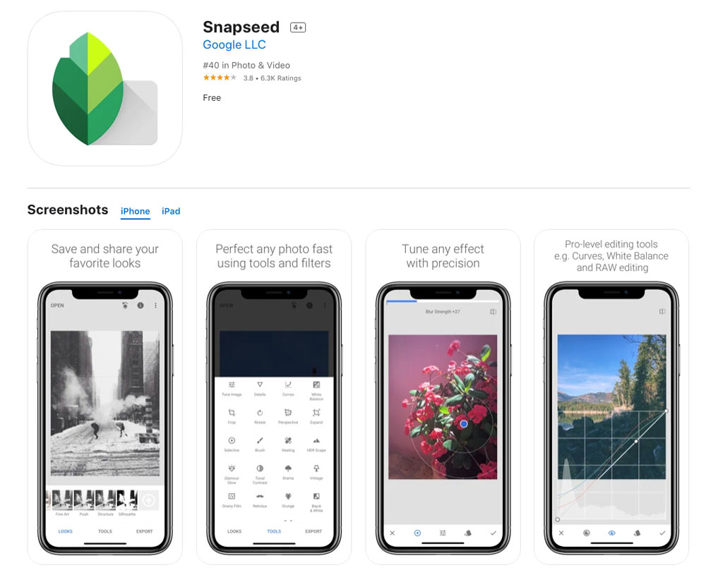 snapseed photo editor best mobile app photo editor 2021 best ios and android photo editing app